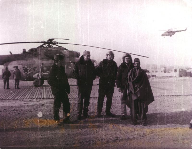Hubschrauberpiloten der Roten Armee in Afghanistan, 1987.